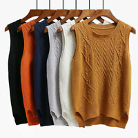 Women Knitted Vest Autumn Sleeveless Sweaters Loose Casual Tops Pullover Fashion