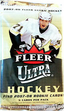 3-Pack Lot FLEER ULTRA 2007-08 HOCKEY Trading Cards ROOKIES? Free SHIPPING