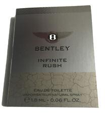 Bentley Infinite Rush 0.06 oz 1.8 ml Eau De Toilette Spray Mini/Travel Sample