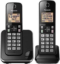 Kxtgc352B Panasonic Expandable Cordless Phone System Amber Backlit Display New