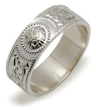 Irish CELTIC Warrior SHIELD Silver RING Size 7- based on Ardagh Chalice
