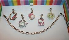 Charm It Hello Kitty Bracelet & 5 charm Set  - Icon Unicorn Fairy Flower Angel