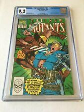 The New Mutants 93 CGC 9.2 NM- McFarlane Liefeld Wolverine 1st Print WP New Case