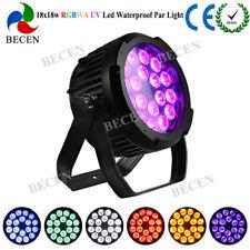 18X18W IP65 waterproof light RGBWA UV 6in1 DMX LED par stage lighting dj party