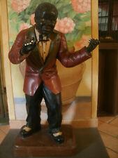 ANTICA GRANDE Statua Moro Uomo Nero SUONATORE h90 cm black man instrument player