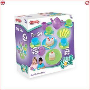 32 Pieces Casdon Tea Set Role Pretend Play Kids Childrens Toy Playset Fun Gift