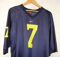 Nike Michigan Wolverines NCAA Basketball #7 Short Sleeve Blue Shirt L