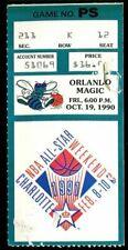 Ticket Basketball Charlotte Hornets 1990 - 1991 10.19 Orlando Magic