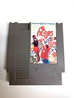 Hoops ORIGINAL NINTENDO NES Basketball Game Tested + Working & Authentic!