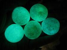 68-75g Glow In The Dark Tibetan Wealth God Ancient Luminous Ball Old Dzi Bead