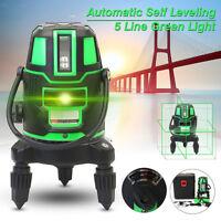 360° 5 Línea 6 Puntos Nivel Láser Infrarrojo Giratorio Auto nivel Cruz 3D Verde