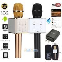 Q7 Handheld KTV Microphone Wireless Bluetooth Karaoke Singing Mic Speaker Player