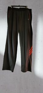 Adidas Gray/pink Climalite Womens XL Jogging workout Pants fleece lined 32inseam