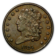 1834 Half Cent Xf - Sku#105037