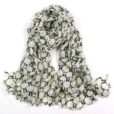Woman's Pashmina Scarf 100% Pure Wool Soft Wrap Stole ted bear UK Seller