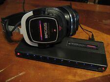 Vintage Koss JCK/200-S Cordless Infrared Stereo Headphones w/Transmitter, Power