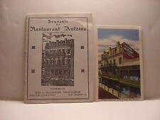 Vintage c1940 Souvenir Booklet for RESTAURANT ANTOINE in New Orleans w/Postcard