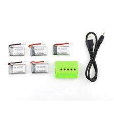 5x 3.7V 300mAh 45C Batterie Ersatzakku mit Ladegerät für Eachine E55 FQ777 FQ17W