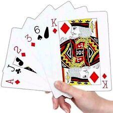 Carte Da Gioco Grande/Poker/BLACKJACK SOLITARIO// wh2-r2b -162 - NUOVO