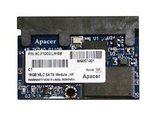 """Apacer 16GB 1.8"""" SATA2 Solid State Drive 8C.F1DD2.LR10B HP 689057-001 Lot Avail"""