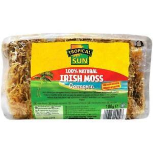Tropical Sun Irish Moss Sea Moss Carrageen 100g Wild Harvested packet