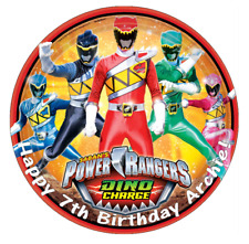 "Power Rangers Personalised Cake Topper 7.5"" Edible Wafer Paper Birthday's"