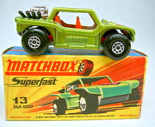 "Matchbox SF Nr.13B Baja Buggy orange Sitze schwarze Pipes top in ""I"" Box"