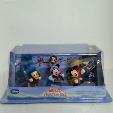 DB2 Disney Store Mickey's Christmas Carol 6 Figure Play Set Mickey Mouse Scrooge