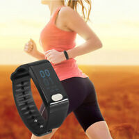 bluetooth Smart Watch Heart Rate Bracelet Fitness Tracker Pedometer for    !!A
