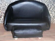 Black Pleather Couch Ottoman Furniture Lot fits Fisher Price Loving Family Doll
