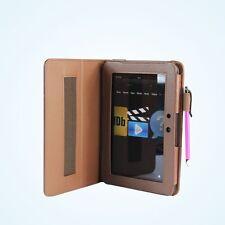 Kindle Fire Hd 360 Giratorio marrón caso con Stylus sintéticas, Cubierta De Cuero - 203