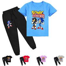 Sonic The Hedgehog Boys Girls Kids Short Sleeve T-shirt & Pants Clothing Sets