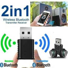 2 in1 USB Bluetooth 5.0 Transmitter Receiver AUX Audio Adapter for TV/PC/Car NEW
