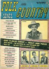 FOLK AND COUNTRY SONGS MAGAZINE #3 NOV 1956 ELVIS, VINCENT, PRICE, ATKINS, JAMES
