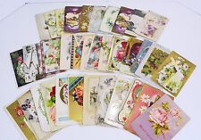 Antique Postcards Greeting Cards Lot of 35 Birthday Christmas Easter Early 1900s