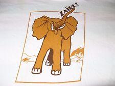 ZAIRE RARE 1975 AFRICA TEE SHIRT SMALL ELEPHANT 70S RARE ZAIRE!