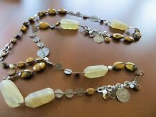 "RETIRED SILPADA N1826 Sterling /Copper/Tiger Eye/Pearls Necklace $139 35"" in."