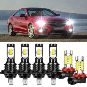 Para For Mercedes-Benz E350 B200 2008-2011 faro LED + Kit de lámpara antiniebla