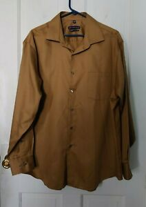 Geoffrey Beene Classic Fit - No Iron 17 1/2 34/35 gold dress shirt