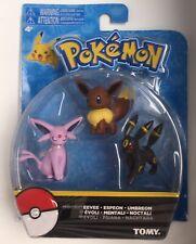 Pokemon 3 Figures In The Set Eevee Espionage Umbreon New Tomy US Seller