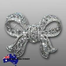 Crystal Diamante Large Bow Brooch Bouquet Pin / Cake Jewellery / Embellishment
