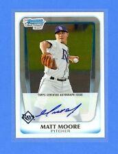 Matt Moore 2011 Bowman Chrome Prospect Rookie Card rC #BCP220 Auto QUANTITY
