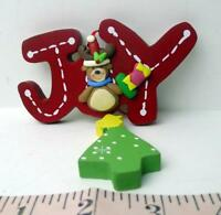 Christmas JOY dangling bear tree decoration