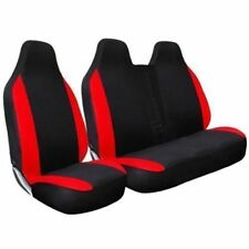 Negro Rojo Delantero 2+1 Van Fundas De Asiento De Carreras Set Para Toyota Dyna 2001 en adelante