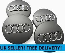 4 x GREY AUDI CENTRE CAPS 60mm alloy wheel Badges RS4 S3 S4 A3 A4 A6 A8 TT