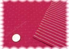 Alba pink Stepp-Sweatshirtstoff Doubleface Hilco Rauten Streifen 25 cm