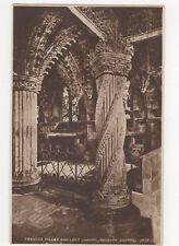 Prentice Pillar & Lady Chapel Rosslyn Chapel Vintage RP Postcard 085a