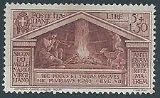 1930 REGNO VIRGILIO 5 LIRE MH * - ED253