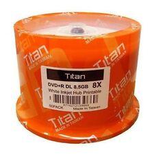 50-Pack Titan 8X DVD+R DL Dual Layer Media White Inkjet Hub Printable (T8891189)