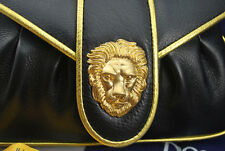 NEW!!! Dooney & Bourke Hayden Panettiere Leather Clutch- Black & Gold RRP US$295